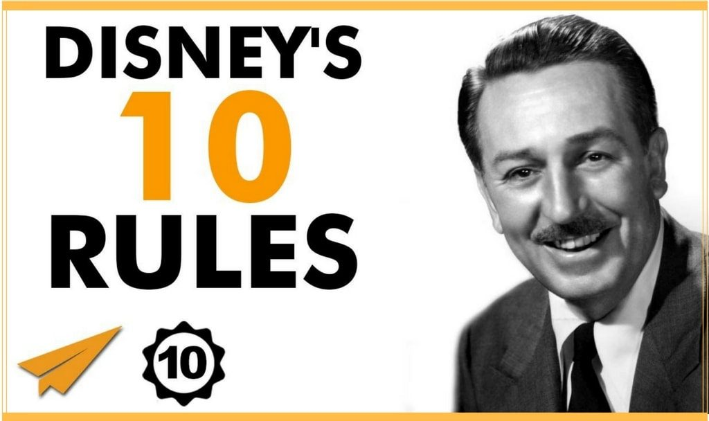 Walt Disney top 10 viziune inovatie copilarie vis
