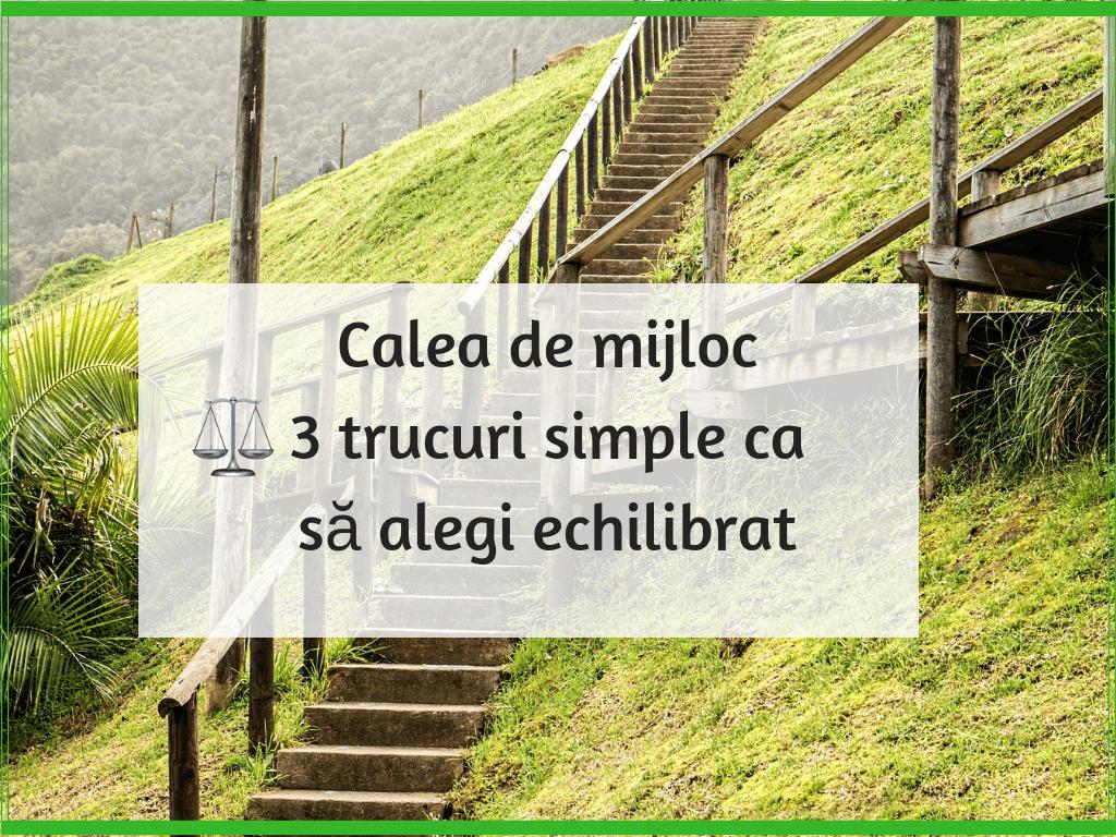 Calea de mijloc – 3 trucuri simple ca sa alegi echilibrat